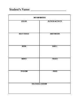 Meet the Teacher Inventory