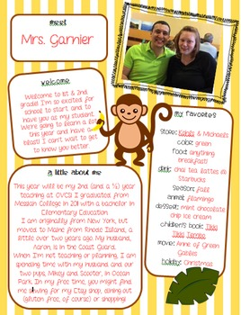 Meet the Teacher - Jungle Monkey Theme
