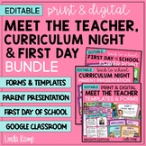 Meet the Teacher Kit, Back to School Open House and First Day PowerPoint BUNDLE