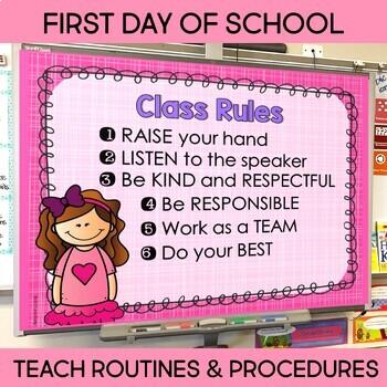 Back to School Meet the Teacher, Curriculum Night & First Day Power Point BUNDLE