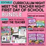 Back to School Meet the Teacher, Curriculum Night & First