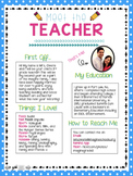 Meet the Teacher Letter!