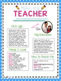 Meet the Teacher Letter!