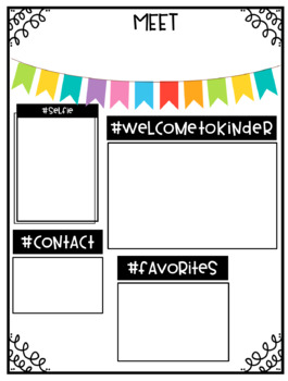 Meet the Teacher Template- EDITABLE