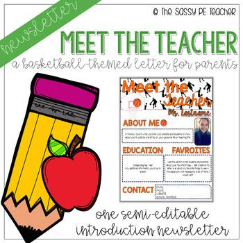 Meet the Teacher Letter - Basketball