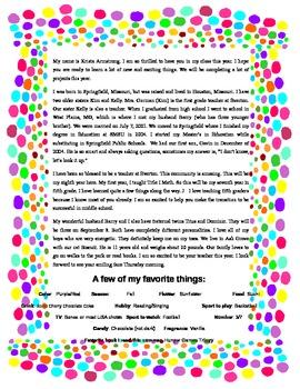 Meet the Teacher Letter Dots