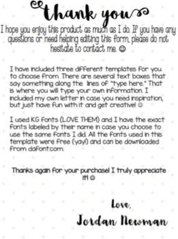 Meet The Teacher Letter Editable By Jordan Melvin Tpt
