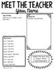 Meet the Teacher Letter - Editable