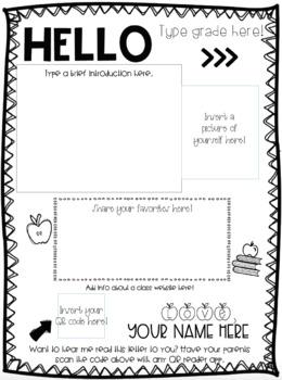 Meet the Teacher Letter-Editable