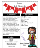 Meet the Teacher Letter Editable