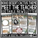 Cactus Meet the Teacher Template Editable: Back to School Night, Open House Form