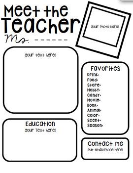 Meet the Teacher Letter Editable - Rainbow and B&W