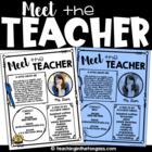 EDITABLE Meet the Teacher Template (with BONUS Meet the Student Template)