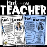 EDITABLE Meet the Teacher Template (with BONUS Meet the St