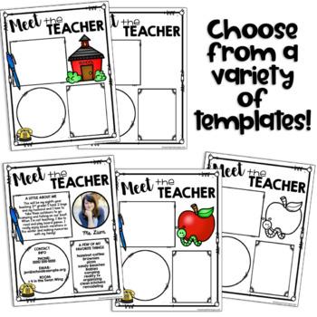 meet the teacher template editable meet the teacher