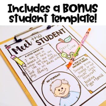 meet the teacher template editable meet the teacher letter editable