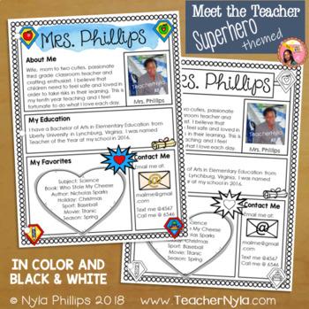 Meet the Teacher Letter - Editable Template - Superhero Theme