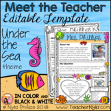 Meet the Teacher Letter - Editable Template - Under the Sea Theme