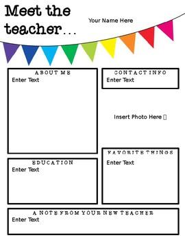 Meet the Teacher Letter **FREEBIE**