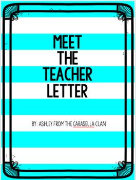 Meet the Teacher Letter- Freebie