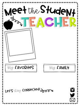 Editable Meet the Teacher Letter (Teacher and Student Teacher Editions)