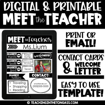 meet the teacher template editable welcome letter to parents template