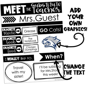 Meet the Teacher Template EDITABLE (and bonus Teacher Contact Info cards!)