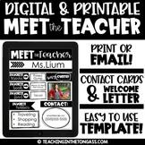 Meet the Teacher Template EDITABLE (and bonus Teacher Cont