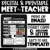 Meet the Teacher Template EDITABLE | Welcome Letter to Parents Template