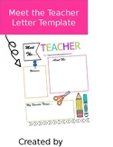 Meet the Teacher Letter Template