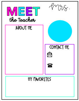 Meet the Teacher Letter Template: White and Bright