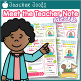 Meet the Teacher Letter Template EDITABLE