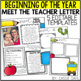 Meet the Teacher Letter Templates