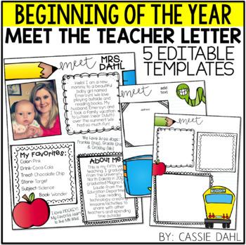 Meet the Teacher Letter Templates