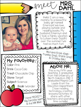 free meet the teacher template - meet the teacher letter templates by cassie dahl tpt