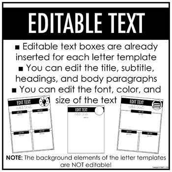Meet the Teacher Letter Templates | EDITABLE