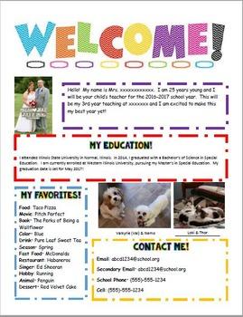 Meet the Teacher Letter-Vibrant