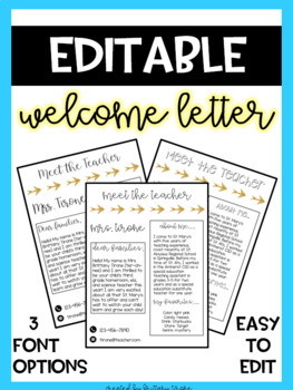 Welcome Letter To Parents Template Worksheets & Teaching