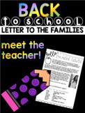 Meet the Teacher Letter for Back to School