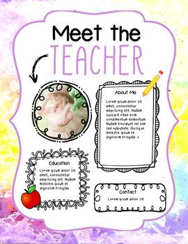 Meet the Teacher Letter in Tie Dye