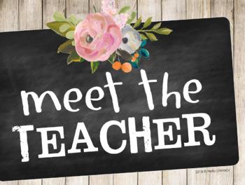 Meet the Teacher Looping Slideshow - EDITABLE