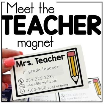 Meet the Teacher Magnet Freebie