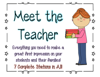 Meet the Teacher: Materials for 7 Stations--Printable Signs with Instructions