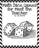 Meet the Teacher Math Dice Games, Gift