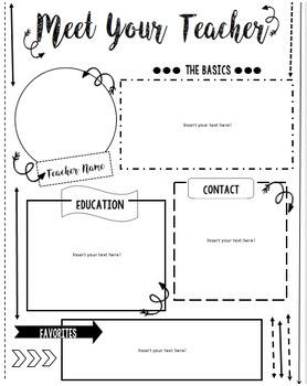 Meet the Teacher/Meet the Student Teacher Arrows EDITABLE Template!