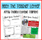 Meet the Teacher/Meet the Student Teacher Arrows EDITABLE