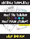 Meet the Teacher // Meet your Student Templates!**