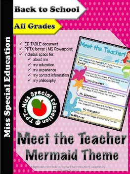 DOLLAR DEALS: Meet the Teacher - Mermaid THEME - Back to School - All Grades