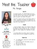 Meet the Teacher Middle School /High School Template