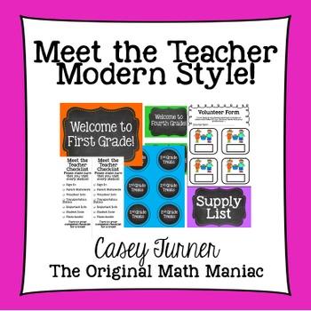 Meet the Teacher Modern Style